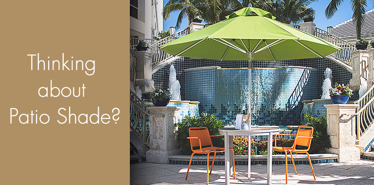 Find Shade At All American Outdoor Furniture