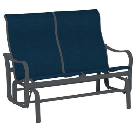 Sling Back Chairs, Double Glider