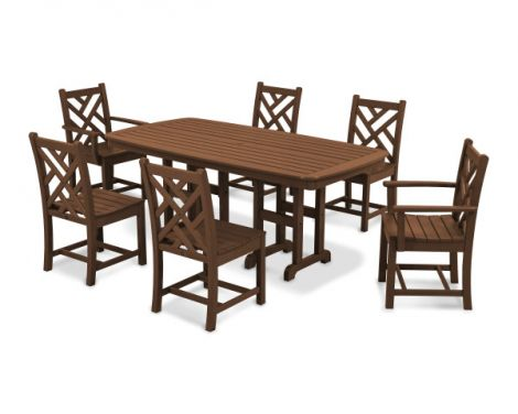Chippendale 7-Piece Rectangle Dining Set